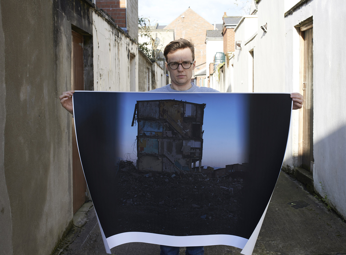 Print for  the 'Take it to the Streets' outdoor exhibition in Muirhouse, Edinburgh